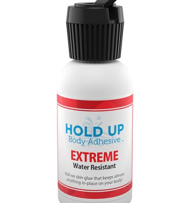 Hold Up Body Adhesive bottle with Turret Cap